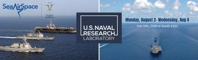 NRL scientists and engineers will be available Aug. 2-4 to discuss their cutting-edge research and advances in technology during the Navy League's Global Maritime Exposition Sea-Air-Space in exhibit booth #302.