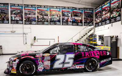 Triller is the new sponsor of the #25 Venturini Motorsports Toyota Camry, driven by NASCAR's first Arab-American female driver, Toni Breidinger, who is competing in the ARCA Menards Series in 2021. Photo courtesy of Triller