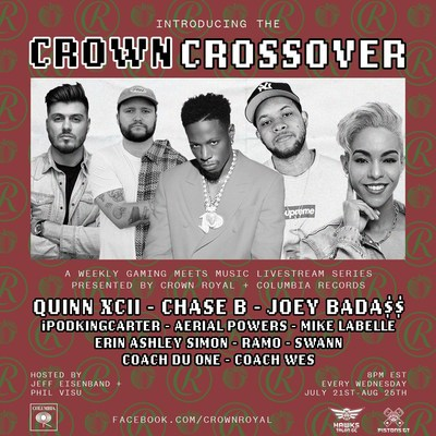 Crown Royal and Columbia Records kickoff The Crown Crossover – A Weekly Music, Gaming, and Culture Series that continues tonight with CHASE B set to lead the charge
