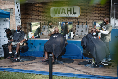 The Wahl mobile barbershop is a staple of the Sterling, Ill., based company and is used to spread goodwill and good grooming across the country. Wahl was honored to be a part of the Chicago Standdown event, and to provide free grooming services to Chicago-area Veterans in need.