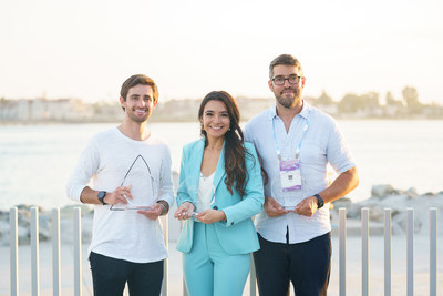 2021 GSV Cup Winners (l-r) Hellosaurus Founder & CEO James Ruben (3rd), Symba Co-founder & CEO Ahva Sadeghi (1st), and Ello Founder & CEO Tom Sayer (2nd)